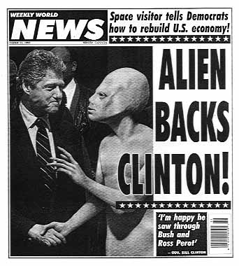 << خدعـة المخلوقـات الفضائيــة >> Clinton_alien